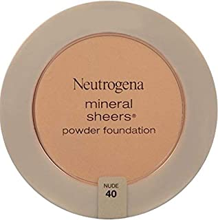 Neutrogena Mineral Sheers Compact Powder Foundation, Lightweight & Oil-Free Mineral Foundation, Fragrance-Free, Nude 40.34...