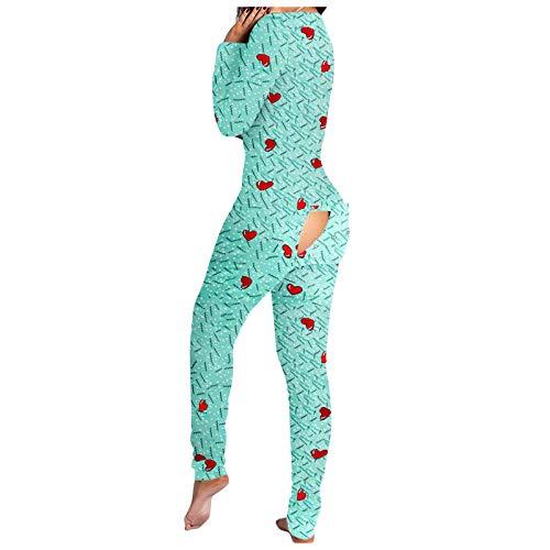 Damen Sexy Schlafanzug sexy Dessous Set Butt Button Back Flap Jumpsuit Pyjama Jumpsuit Bodycon Bodysuit Strampler Schlafanzug Frau Bodysuit Clubwear Playsuit Partytop Nachtwäsche