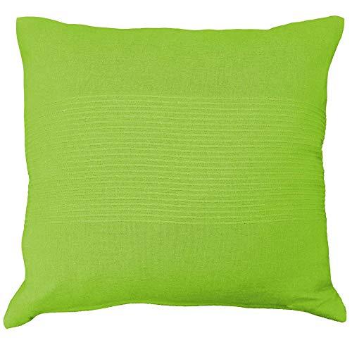 Nuances du Monde 3006674 - Federa per Cuscino in poliestere, 40 x 40 x 40 cm, Verde