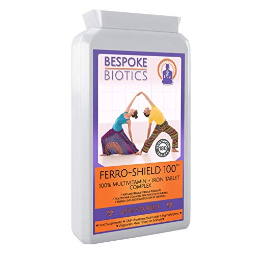 Ferro-Shield Pro |Menstrual & Male Health| Multivitamins & Collagen 180 Tabs - Inc Vitamin ABC & D Iron | UK Latest