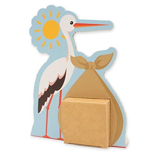 itenga Geldgeschenk oder Gastgeschenk Verpackung Storch aus Karton 16x12cm