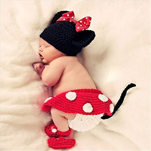 PZNSPY Accesorios de fotografía para bebés Envolturas de fotografía para recién nacidos Crochet hecho a mano Lana de punto Accesorios de accesorios para fotos de punto Foto recién nacida, 3