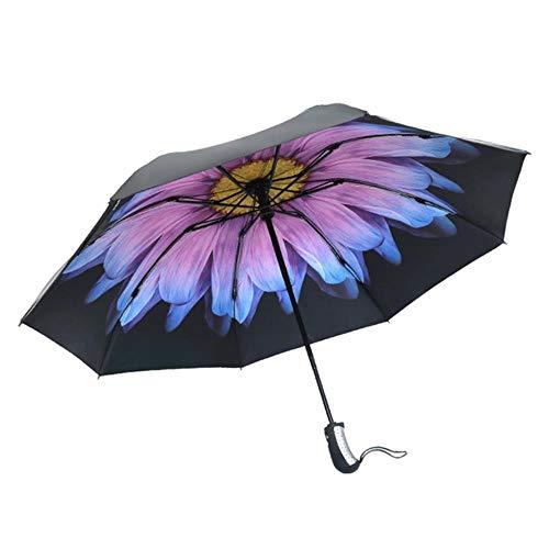 Tgbyhnujm Omgekeerde paraplu winddichte compacte paraplu binnen omgekeerde paraplu open en dicht regen paraplu vrouw & man, een luifel