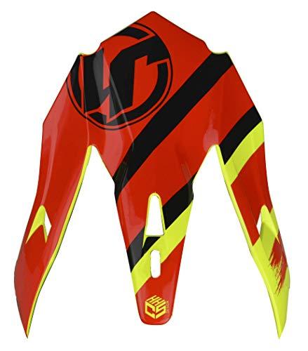 Motodak Visiera di Ricambio Just 1J32PRO Kick Black/Red/Yellow