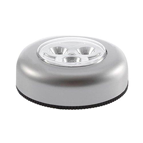 #N/V No requiere cableado, luz de noche con control táctil real, 3 ledes, inalámbrico, para armario, lámpara táctil, funciona con pilas