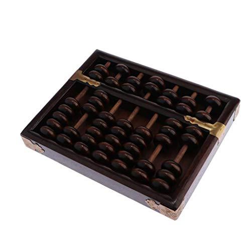 perfeclan 7 Dígitos Varillas, 7 Cuentas De Madera Estándar Abacus Soroban Chino Japonés Calculadora Herramienta De Conteo