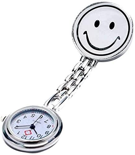 MAATCHH Reloj de Bolsillo Reloj de Vestir de Bolsillo de la Vendimia Relojes de Vestir Clip-on Colgante Colgante Reloj de Cuarzo para Hombres Mujeres (Color : Silver, Tamaño : One Size)