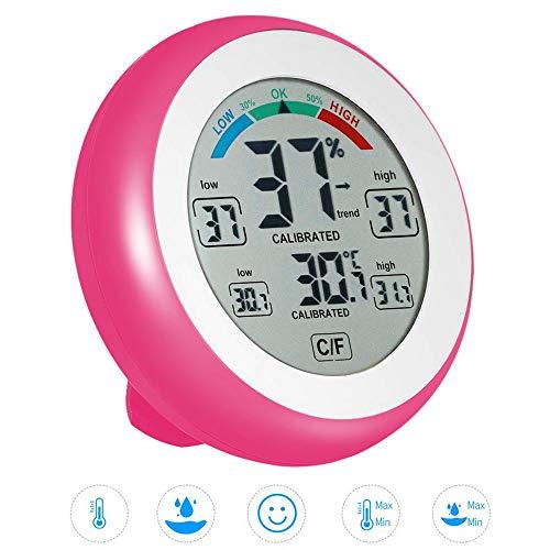 Blu Summerwindy 3-in-1 Termometro per Orologio Voltmetro Digitale 12V per Auto 12V