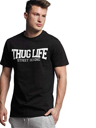 Thug Life Herren Street Boxing Tee T-Shirt, Black, S