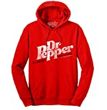 Tee Luv Dr Pepper Hoodie - Cherry Red Hooded Dr Pepper Sweatshirt (M)
