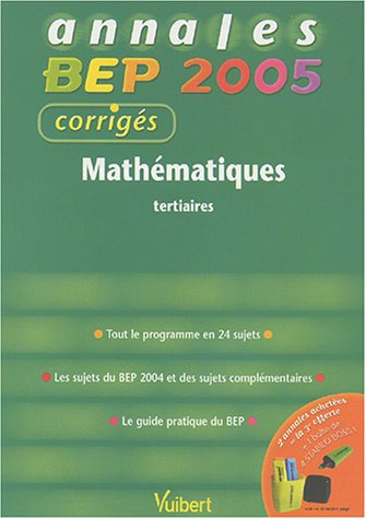 Mathématiques BEP tertiaires : Corrigés