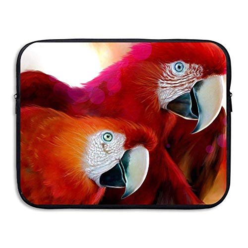 Laptop Sleeve Bag Cute Animals Parrots 15 Inch BriefSleeve Bags Cover Notebook Waterproof Portable Messenger Bags