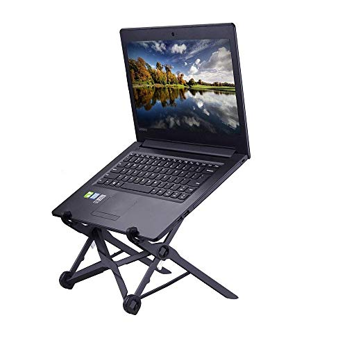 Zigig Portable Laptop Stand Adjustable & Foldable Notebook Holder with Ventilated and Lightweight Universal for MacBook and Other Laptops