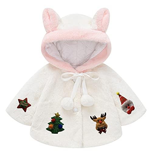AOCRD Conjunto de ropa para niña con forro polar y capucha con cremallera y orejas, para otoño e invierno, White09, 5 años