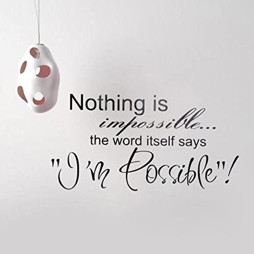 RYGHEWE Wall Stickers Decal - Fort Worth Mall Impossible Stick Nothing Price reduction is