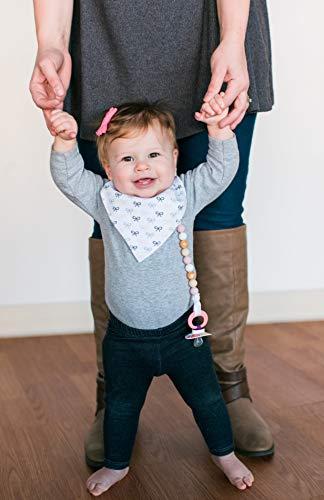Baby-Lätzchen für Mädchen, 4er Pack Auslaufsichere Babylätzchen, Süße Lätzchen aus Weicher, Saugfähiger Baumwolle und Wasserundurchlässiger Auskleidung, Halten Sie Ihr Baby trocken - 7