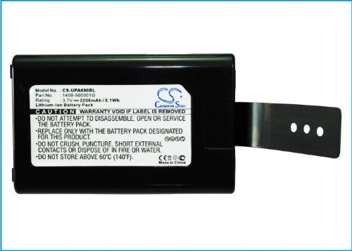 Cameron Sino 2200mAh Replacement Battery Fit for Unitech,HT682,Multi-Languages,PA690,PA690 Rugged Handheld Computer,0260UADG,2260UADG,1400-900001G,,1400-910005G,1400-910006G - CS 1400-900005G