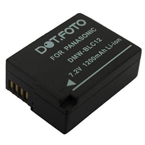 Dot.Foto Qualitätsakku für Panasonic DMW-BLC12,DMW-BLC12E - 7,2v / 1200mAh - Garantie 2 Jahre - Panasonic Lumix DMC-G5, DMC-G6, DMC-G7, DMC-G70, DMC-G80, DMC-G81, DMC-G85, DMC-GH2, DMC-GX8