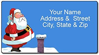 funny christmas address labels