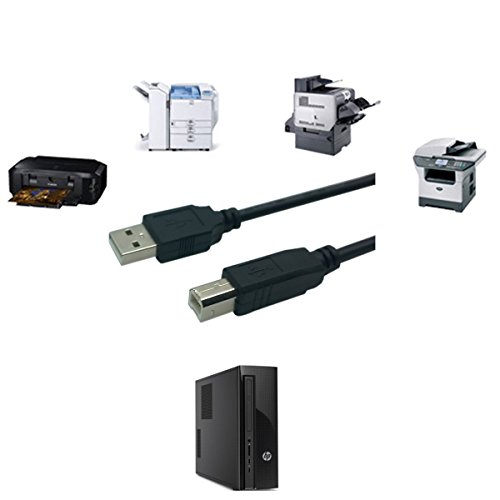 Agagadgets 1m/3f lange USB-printerkabel voor - Epson Expression Home XP-432 All-in-One Inkjet Printer