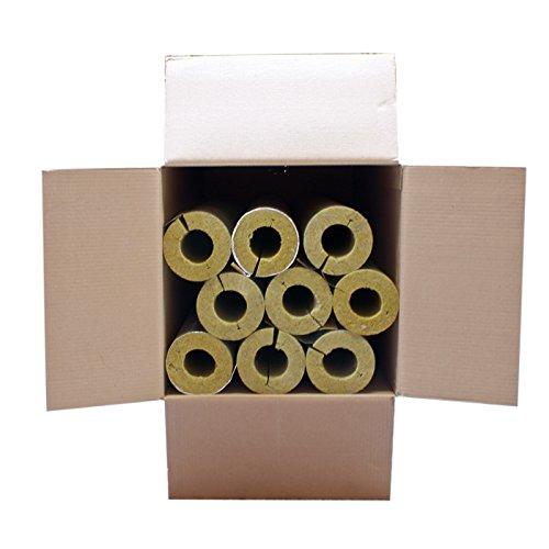 Austroflex Karton 5m Steinwolle Rohrschale alukaschiert 60 mm x 50 mm 2 Zoll Mineralwolle Rohrisolierung Astratherm Steinwolle-Rohrschalen