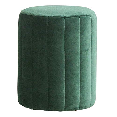 Taburetes De Bar , Comedor silla cambio zapato zapato moderno simple terciopelo ligero sofá sofá escalofriante taburete sala de estar sentado taburete pequeño taburete (color: verde, Tamaño: 36 * 45cm