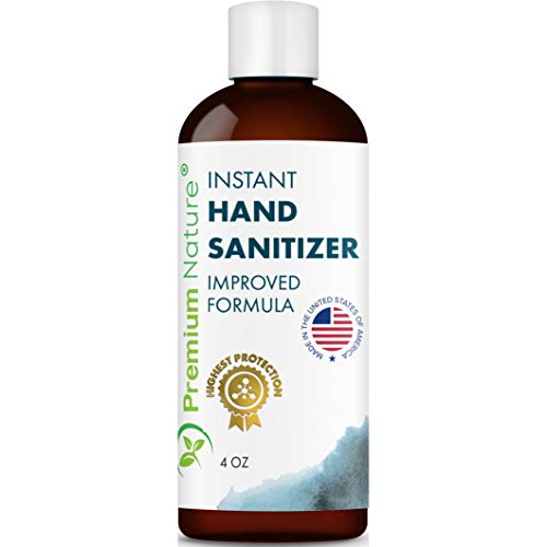 Instant Hand Sanitizer Gel - Value Size Advanced Natural Hand Sanitize Cleaner Portable Aloe Vera Moisturizer Packaging May Vary (1 Pack 4 oz)