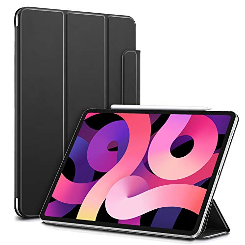 ESR Magnetic Case for iPad Air 4 2020 10.9 inch [Convenient Magnetic Attachment] [Trifold Smart Case] Rebound Series,Black