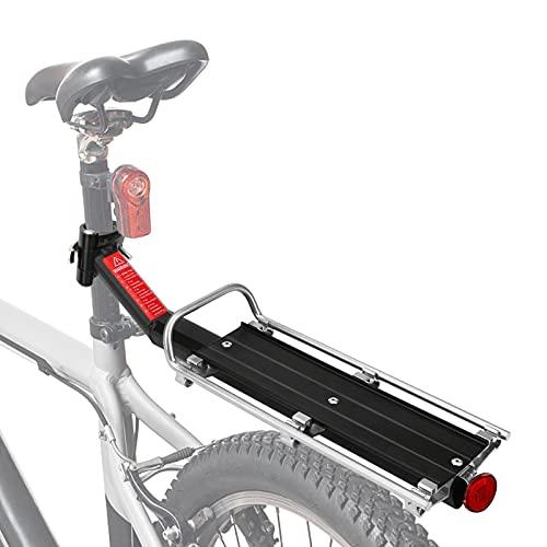 Achort Ajustable Carrier Trasera, Bicicleta Trasero Portaequipajes para Bicicleta de Montaña Aleación de Aluminio Tijas Bicicleta de Montaña Portabicicletas Capacidad de 9 kg