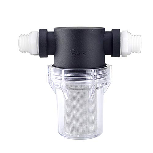 Guajave Strainer Water Filter Cylinder for Water Pipe Garden Cleaning Car Home Washing Machines New(4 Points,40 Mesh)