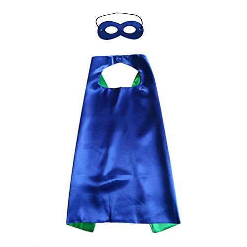 Skyeye Kinder Halloween Umhang tragen Superman Umhang auf beiden Seiten für Männer und Frauen Halloween Cosplay Kostüme mit Augenbinde