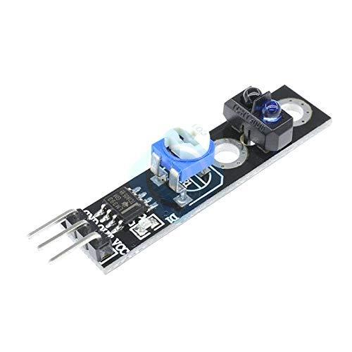 ZTSHBK 10 Piezas TCRT5000 infrarrojo Reflectante Interruptor de Infrarrojos Placa de Sensor módulo de Seguimiento de línea de Barrera 4 Pines 3,3-5 V para Coche Inteligente Arduino