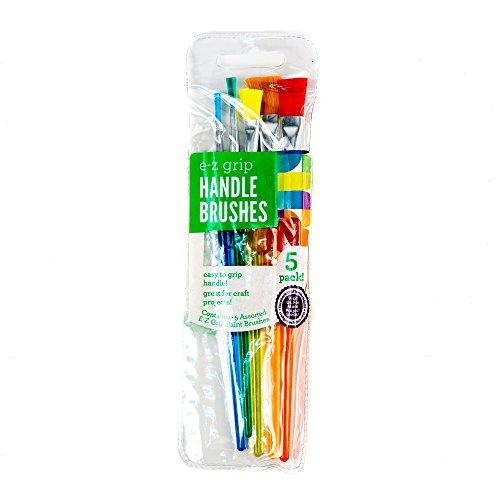Kids Craft EZ Grip Paint Brushes, 5pk