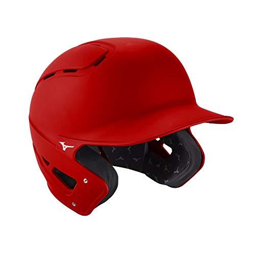 Mizuno B6 Fitted Adult Baseball Batting Helmet, Red, X-Large