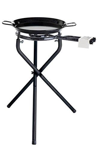 'Portátil Barbacoa Set para Paella de barbacoas de BBQmuy bien con Paella–Sartén de acero esmaltada 38cm de diámetro