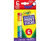 Crayola Washable Paint Sticks, No Water Required, Paint Set for Kids, Art Supplies, 6 Count, Multi