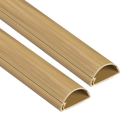 D-Line 1D3015O-2PK Mini Kabelkanal zur Kabelführung | Kabelleiste - 2 x 30x15 mm, 1 m Länge (2-meter) - Eichenholz-effekt