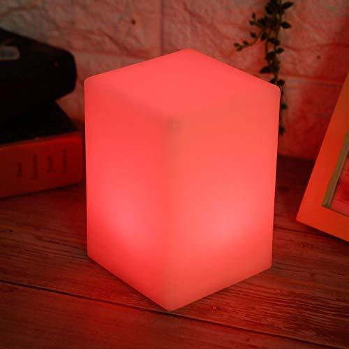 Okuyonic Decoración Luz de Escritorio Aspecto Hermoso Luz de Escritorio LED Lámpara de Mesa Buena decoración Regalo Cuadrado para Dormitorio(Square Battery)