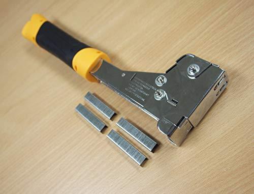 Heavy Duty Hammer Tacker Stapler T50 6-14mm 1/4