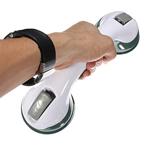 Barandilla de Baño Ventosa Asidero Ducha con Ventosa para Banera y Inodoro - Fácil de Llevar/Instalación sin Taladro 290mm 1pack