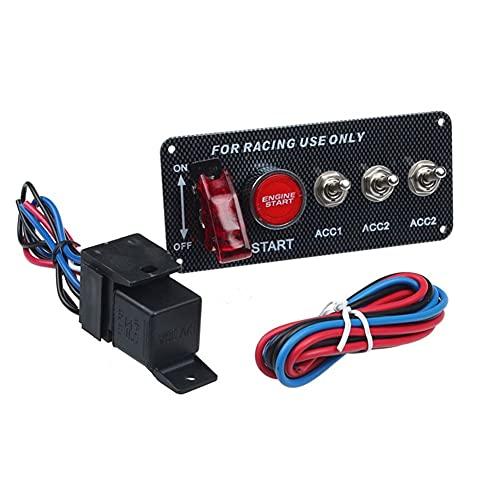 L1YAFYA Interruptor de Encendido 1 unids 12V Carreras de Carreras LED de alterno del Interruptor de Encendido del Interruptor de Encendido Inicio del Motor Pulsador Mar26 (Color : A)