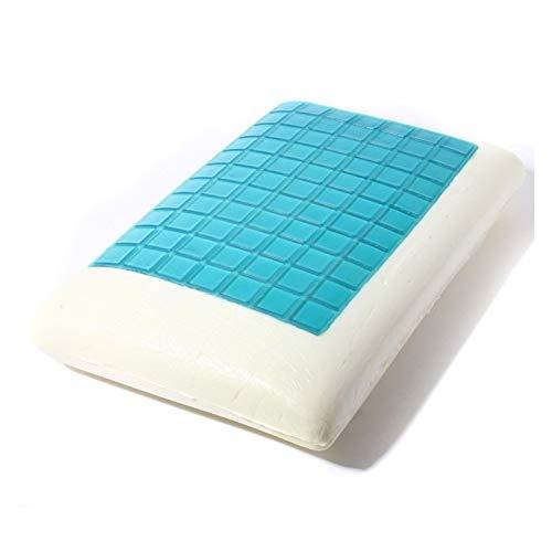WLKJ Almohada de Embarazo Memory Foam Cama Blanca Almohada Gel refrescante Lavable Almohada Cervical Super Suave y Confortable for Dormir Almohada