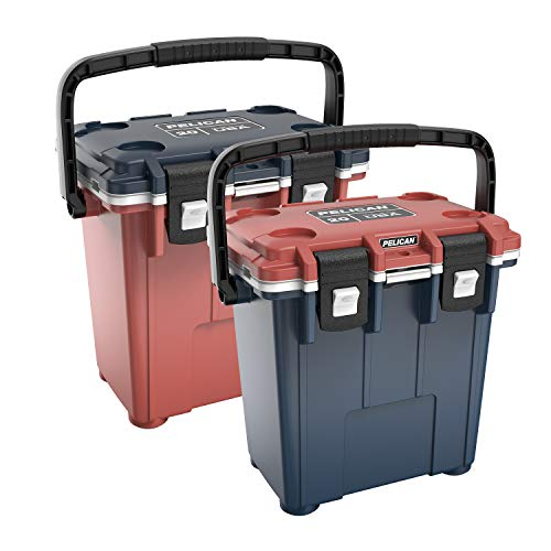 Pelican Elite 20 QT Americana Cooler (Red-White-Blue)