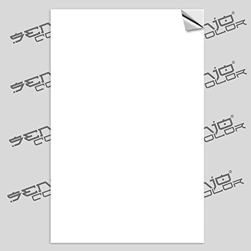 Senjo Color Airbrush Schablonenfolie selbstklebend Weiss 60µ 10 Bogen A4 Polyesterfolie bedruckbar zum Schablonen selber Machen