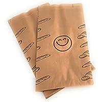 Bolsas papel kraft para bocadillo 14+7x27 cm (250 uds)
