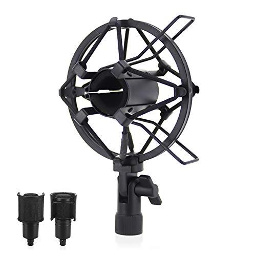 YFOX Universal 50mm Mikrofon Stoßdämpferhalterung,elastische Metallaufhängung Stoßdämpfer Befestigungsclip,verwendet für Kondensatormikrofone mit einem Durchmesser von 50-60mm (schwarz)