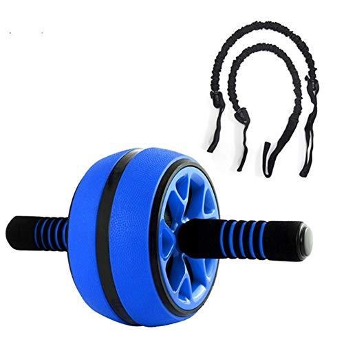 Victor Johnsond Gym Silent-TPR Abdominal- Rad-Rolle Trainer Fitnessgeräte Gym Startseite Übung Bodybuilding Ab Rolle Bauchkern Trainer Equipment (Color : Blue and Rope)