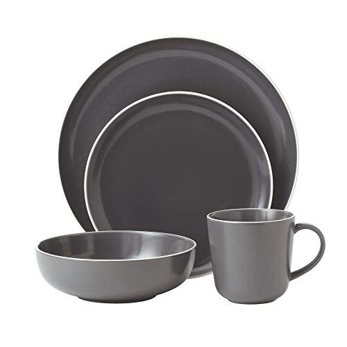 Gordon Ramsay 4-Piece Bread Street Dinnerware Set, Slate