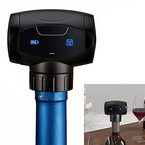 Tapón de Vino Eléctricos, KNMY Automático para Almacenar Vino , Reutilizable Tapones Automáticos para Botellas de Vino al Vacío, Bomba de Vacío Inteligente, Protector de Vino
