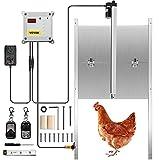 Happybuy Automatic Chicken Coop Door, Timer and Light Sensor Chicken Door Opener, 12V 66W Chicken Coop Door, Electric Poultry Door Opener Kit with Infrared Sensor, Auto Chicken Door with 2 Remotes